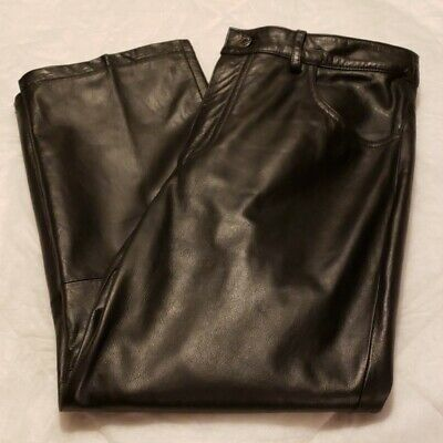 Express Genuine Leather Pants Women's Juniors 9/10  Black   Design Genuine Leather Ladies Pants