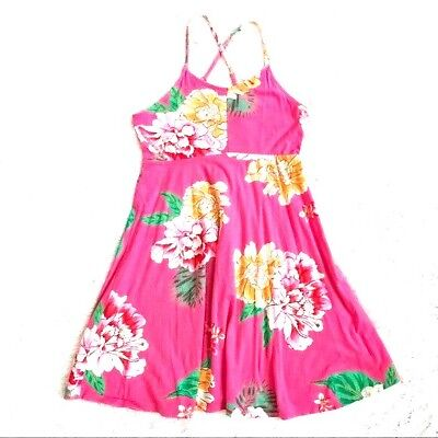 NWT GIRLS OLD NAVY SUN DRESS PINK CAMI FLORAL SIZE large 10 12 ](Old Girls)