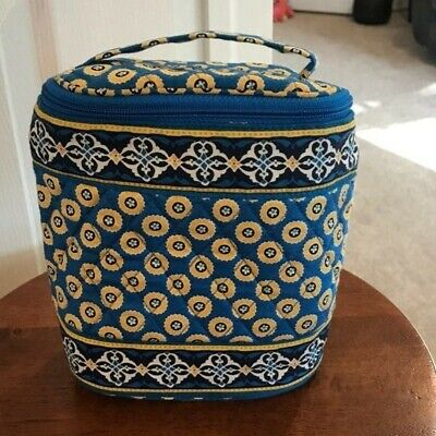 Vera Bradley Blue & Yellow Insulated Cooler Lunch Tote Bag