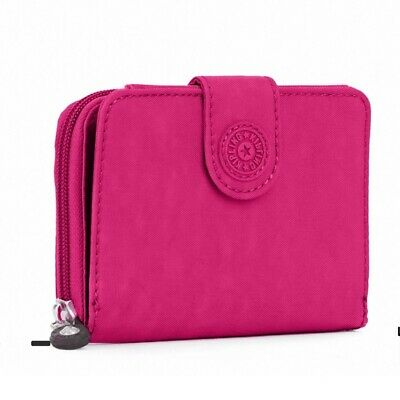 Kipling Very Berry Pink New Money Trifold Zip Around Wallet NWT