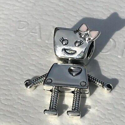 AUTHENIC Pandora Bella Bot Pink Enamel Charm 797141EN160 Robot - Pink Enamel Charm
