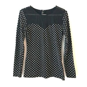 Polka Dot Mesh Top H&M West Island Greater Montréal image 3