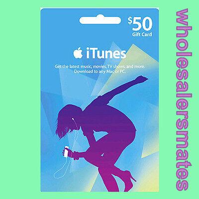$50 Dollar Apple iTunes Gift Card Code USD Geschenk Karte US Store