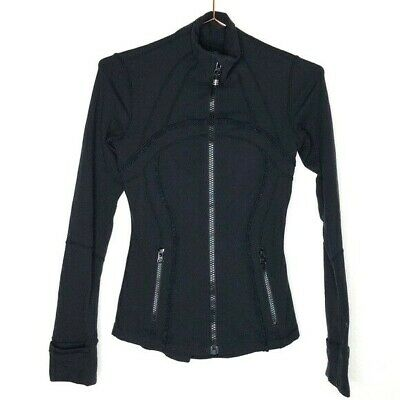 ❤️*MUST HAVE* Lululemon Define Jacket Ruffle BLACK Lightweight Size 2 - $118