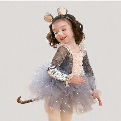 ution Silver Crushed Velvet Mouse Tutu Costume Size M (Revolution Dance Kostüme)