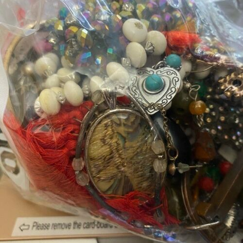 Mystery Jewelry Lot Vintage Modern Wearable 1-2lbs Good Cond (READ DESCRIPTION)