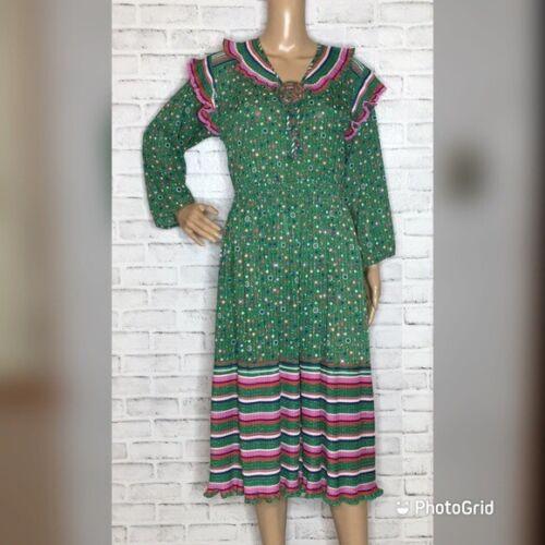 Diane Freis vintage dress confetti georgette