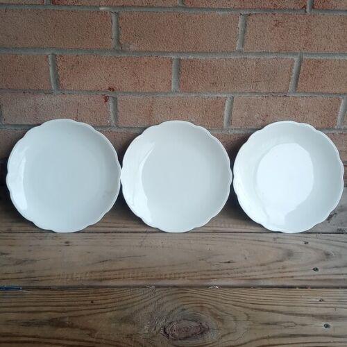 (3)RARE  M-Z AUSTRIA DINNER PLATE WHITe stamped