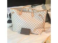 Louis Vuitton Neverfull Designer Womens Handbag Bag Clutch Pouch Purse Travel Bag Holiday