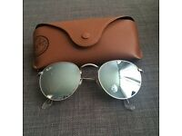 Silver Round Rayban Sunglasses Shades