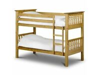 Sale On Furniture-Kids Bed New Single Wooden Bunk Bed In Multi Colors With Opt Mattress