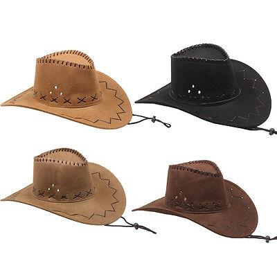 NEW Cowboy HAT WESTERN BROWN BLACK CAMEL BUCKET Cowgirl MEN WOMEN CHRISTMAS GIFT ()