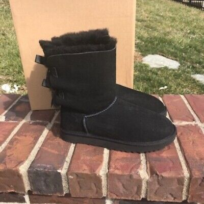 ugg bailey bow II black boots size 8 new in - Uggs Boots Bailey Bow