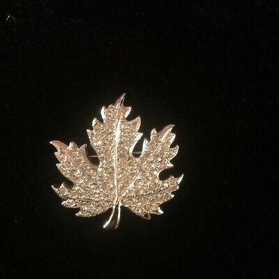 Vintage Classic Sterling Silver Maple Leaf Brooch British Signed Bond Boyd British Classic Jewelry