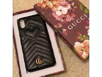 Gucci leather I phone x case