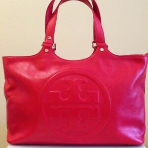 NEW Tory Burch Bombe Bag in RED leather