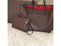 Louis Vuitton Neverfull Designer Bag Clutch Bag Travel Bag Holiday Bag Wallet Tote