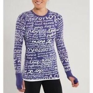 Lululemon Purple Manifesto Long Sleeve Top!