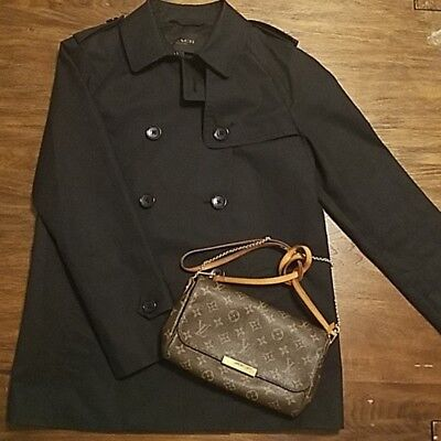 NWOT Authentic COACH short black cotton belted Trench Coat size M MSRP $600