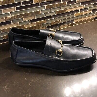 Vintage Gucci horse bit driving loafers