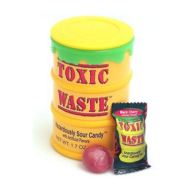 1 Drum Toxic Waste Ultra Sour Candy - Assorted Flavors - Free Ship! - Charms Candy