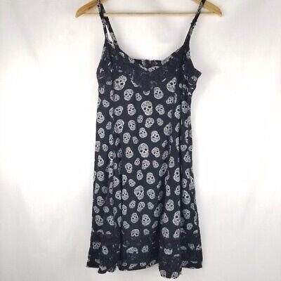 Hot Topic Skull Mini Dress Black and White Size Small
