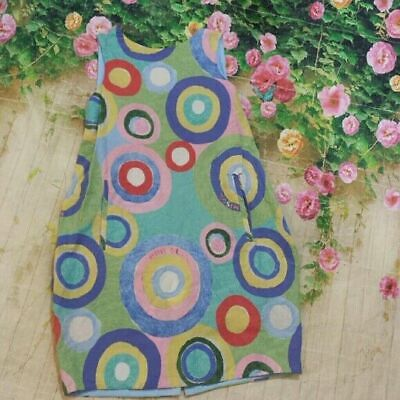 Mimisol cotton geometric print sleeveless dress / jumper size 10
