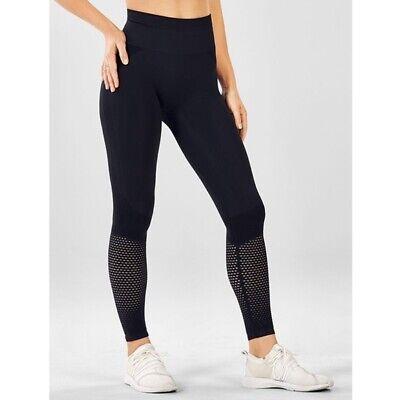 Fabletics Seamless High-Waisted Mesh Legging M 8 Black Kate Hudson NWT