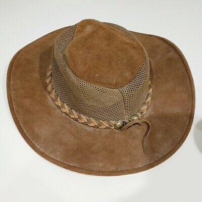 HENSCHEL Brown Leather Hat Size L