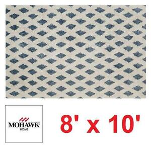 NEW* MOHAWK HOME ADONA RUG - 109536099 - BLUE WHITE AREA RUGS CARPET CARPETS FLOORING DECOR ACCENTS MAT PAD MATS PADS