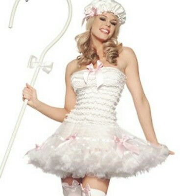 Sexy Halloween Costume Little Bo Peep Storybook Toy Story Dress Set  with Staff