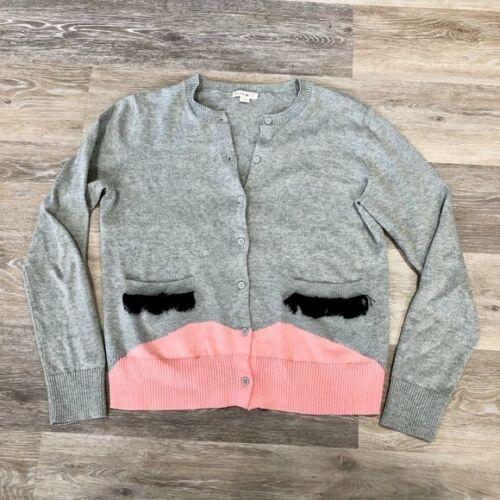 J. Crew Crewcuts Gray Face Cardigan Sweater Size 16