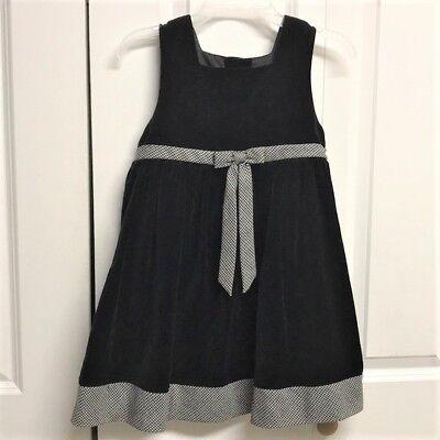 Black Velvet Jumper Dress Child Size 5 / 6