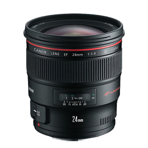 NEW LOWER PRICE! Mint Canon EF 24mm F/1.4L II USM Lens & Filter