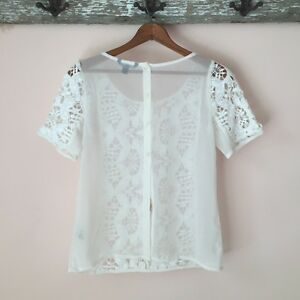 White Sheer Crochet Tee (American Eagle Outfitters) West Island Greater Montréal image 2