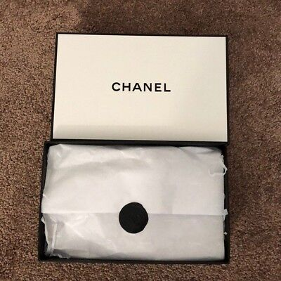 Chanel Small Gift Box with Tissue Paper Logo Sticker on It  (Small Gift Box)