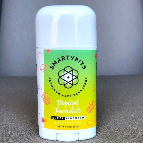 Smartypits Aluminum Free Deodorant - Super Strength - Tropical Paradise  2.75 oz