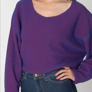 American Apparel Cropped Reversible Easy Sweater
