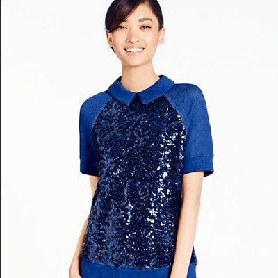NWT Kate Spade Blue Sequin Sweater L