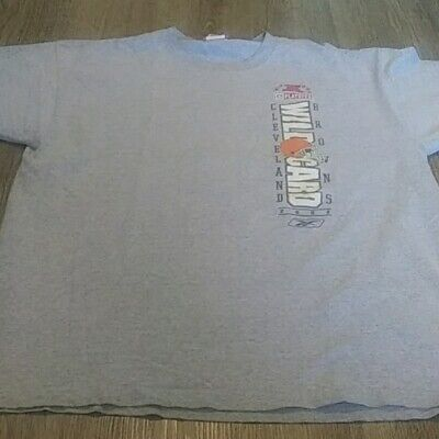 CLEVELAND BROWNS T SHIRT Classic Heather Gray Logo Lettering Football LG