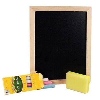 Schiefertafel Schreibtafel Tafel mit Kreide Schwamm Holz Schultafel Kreidetafel