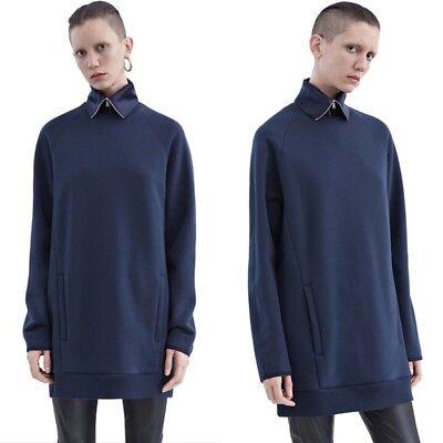 Acne Studios Fiera Sweatshirt Dress Navy XS NWOT