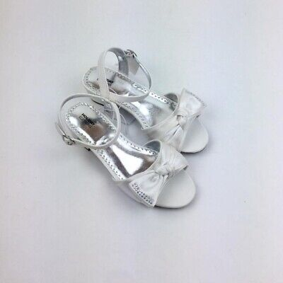 Holiday Editions Girl's Dress Shoes White Satin Church Easter NWT (Girls Easter Shoes)