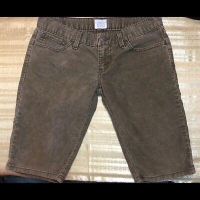 Levis Womens Brown Corduroy Cropped Capri Pants Size 6/28 Corduroy Cropped Pants