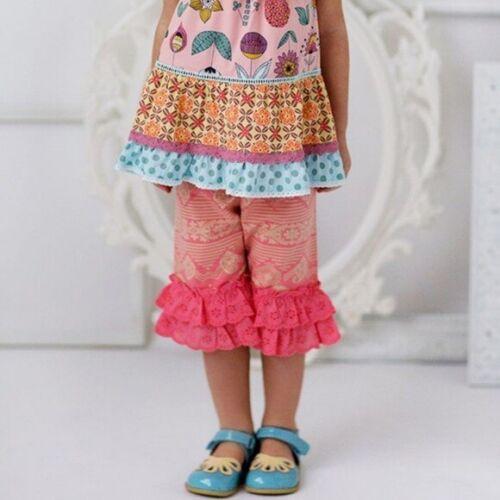 Matilda Jane SZ 2 Happy and Free Sugar Rush Cropped Ruffles Pants Girls #2029