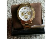 Michael Kors Wyatt Chronograph Gold Tone Stainless Steel Watch Mk5933