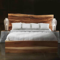 LIVE EDGE WOOD BED QUEEN SIZE BED KING SIZE BED WOOD HEADBOARD