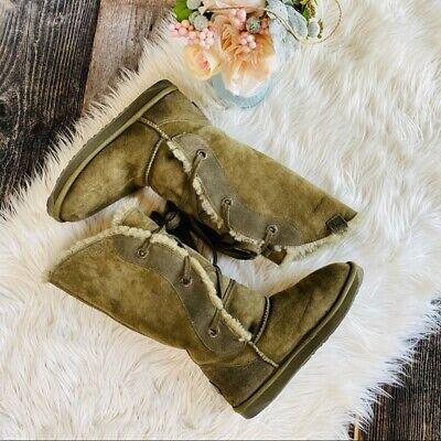 EMU Australia Tall Olive Green Sheepskin Boots size 9