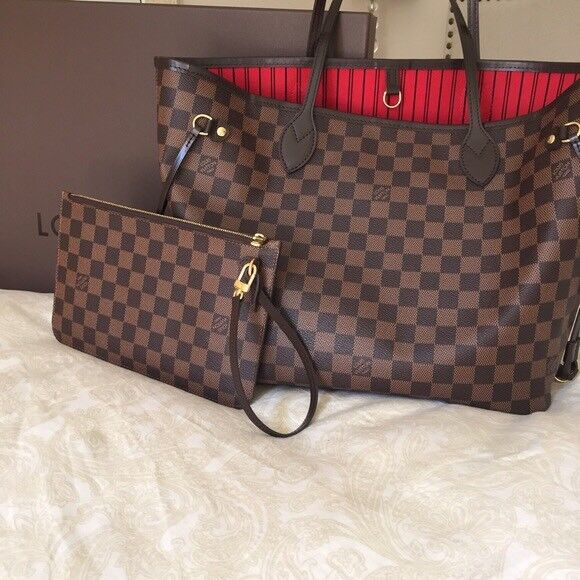 Louis Vuitton Neverfull Designer Bag Clutch Bag Travel Bag Holiday Bag  Wallet Purse b14c72d604cee