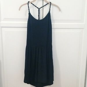 Banana Republic 100% Silk Pleated Ballerina Little Black Dress